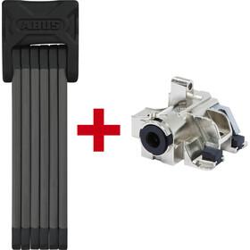 ABUS Bordo 6015 + Bosch Plus RH Cykellås 120cm för rambatteri SH 6000/120 svart